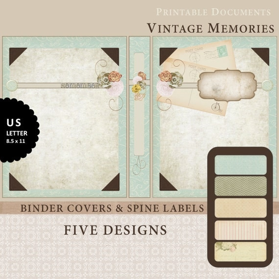 Items Similar To Printable Binder Covers & Spine Label