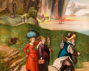"Albrecht Durer : ""Lot and His Daughters"" (c1496-1499) - Giclee Fine Art Print"