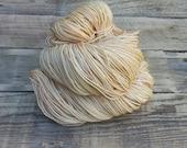 Butter - Hand Dyed Yarn - Sock Fingering Lace - Merino Wool Nylon