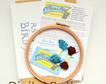 PDF Embroidery Pattern and Instructions