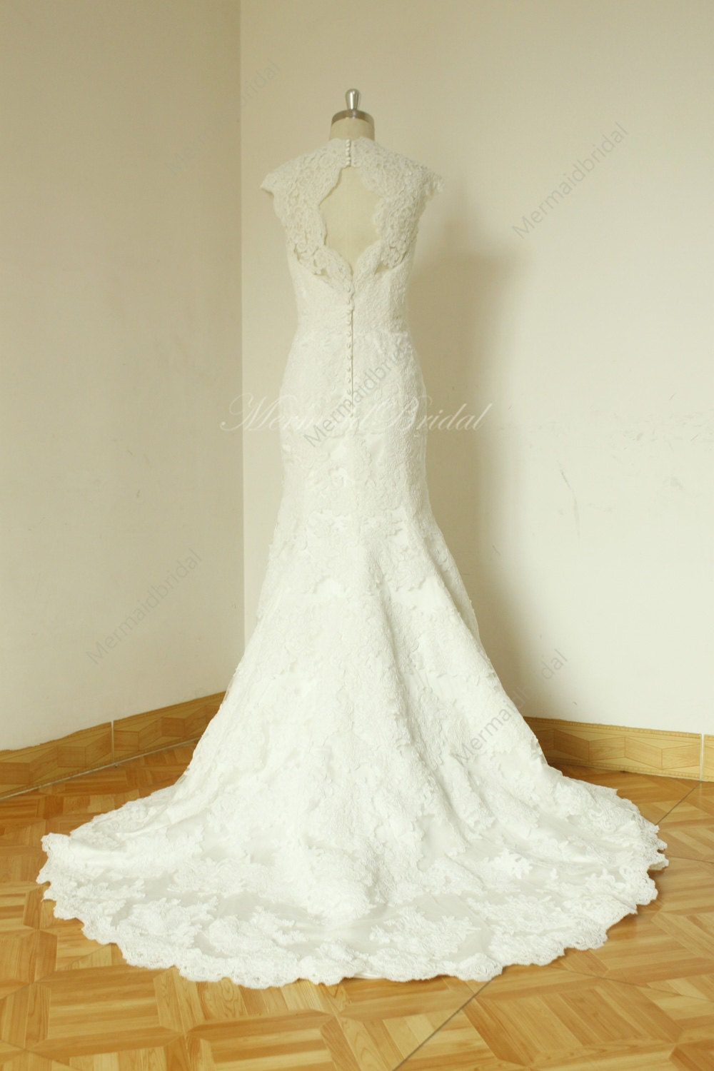 Fit And Flare Sleeves Vintage Lace Wedding Dress By MermaidBridal Wedding I