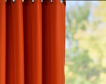 pair curtains panels of 50 39 39 orange curtains with grommets
