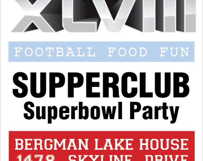 Superbowl XLVII Party Ticket Invitation