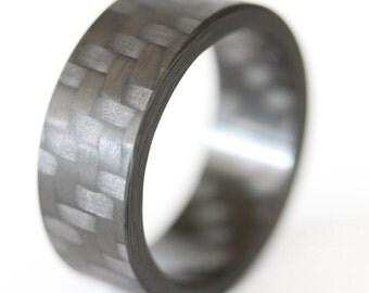 Twill Block - Carbon Fiber Ring