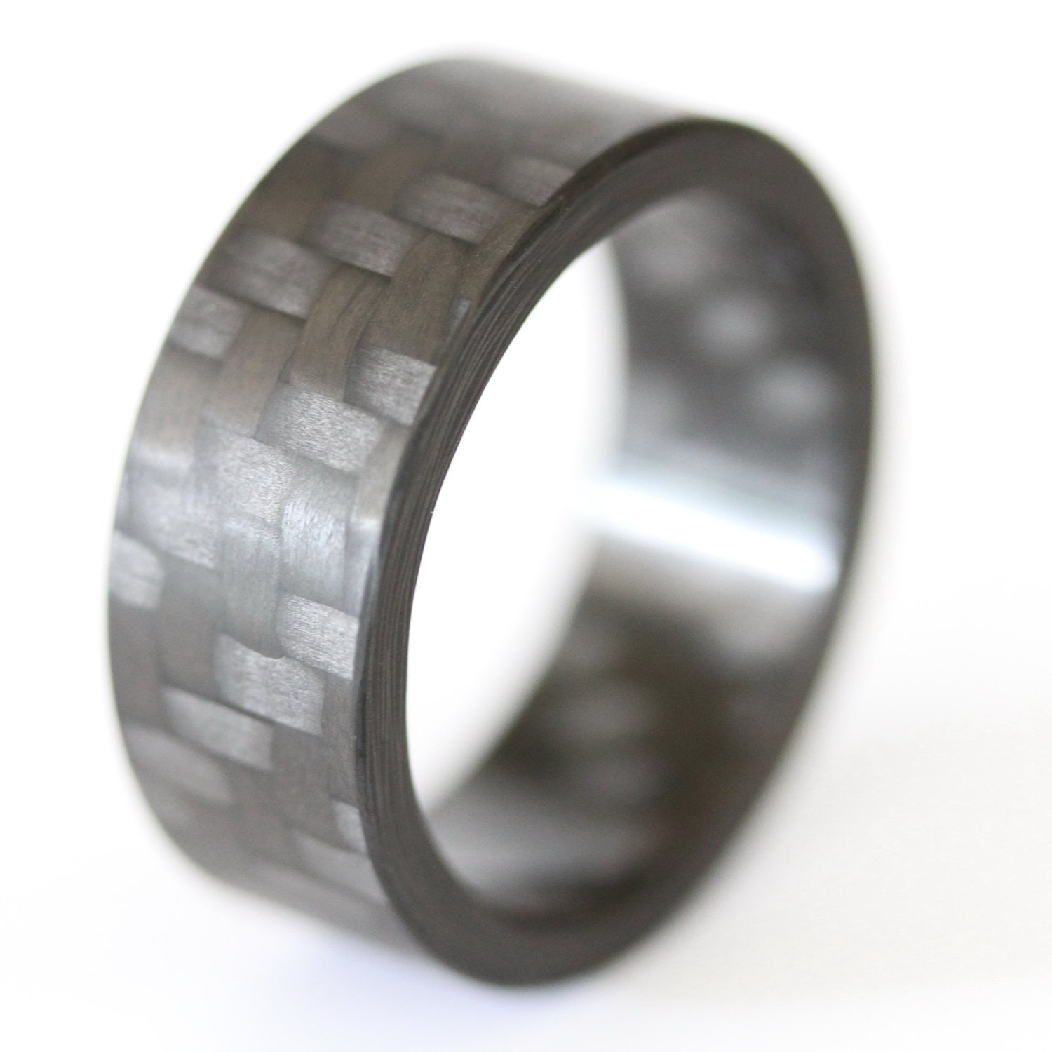 ring band inlay rings gray men fiber high com carbon wedding dp w fit s comfort engagement polish cobalt amazon