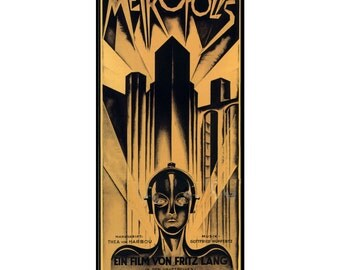 Metropolis Movie Poster - Fritz Lang Metropolis movie poster, PP182