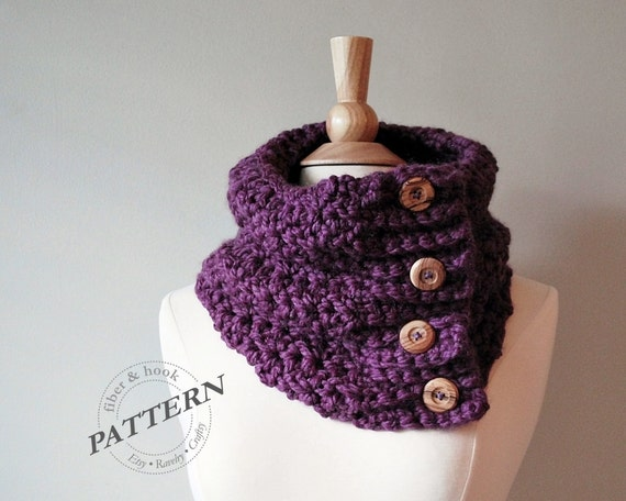 Crochet pattern boho chunky cowl crochet cowl pattern easy crochet pattern boho chunky cowl crochet cowl pattern easy crochet chunky button scarf toddler youth adult sizes pdf 033s from fiberandhook on dt1010fo