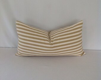 Nellie Sand Stripe Lumbar Pillow Cover
