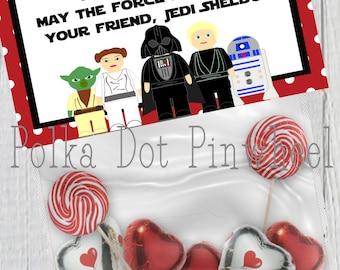 Star Wars Inspired Valentines Goodie Bag Printable