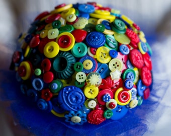 Superhero button bouquet alternative bouquet