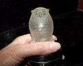 Owl, Glass Night Light, Vintage, Pifco, Chrome, Art Deco Glass, Glass Owl, Art Deco Shade, Opaque Glass, 1930s