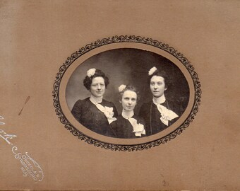 Antique Photo of 3 Lovely Ladies