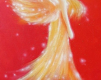 """Limited angel art photo """"golden light"""" , modern angel painting, artwork,ideal also for picture frame, gift,spiritual,magic,mystic"""