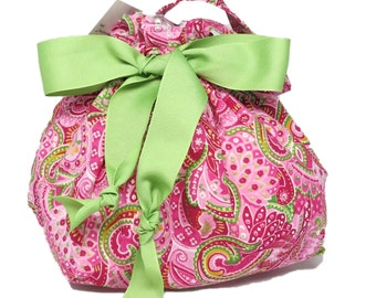 Bright Summer Paisley - Choice of Size - Plum Creek Project Bag (1003)