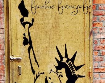 Statue Of Liberty Graffiti ,New York City Photo,NYC,City,Home Decor,City Photography, Wall Art Print 5 x 7, 8 x 10, 8 x 12.