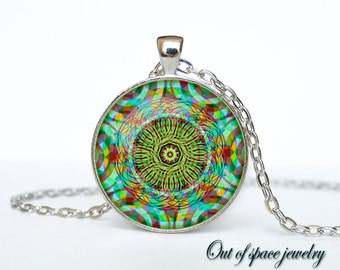 Neon Abstract pendant Neon Abstract necklace Neon Abstract  jewelry