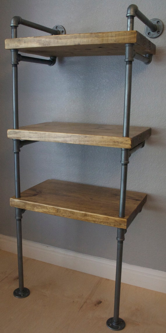 industrial media stand pipe shelving unit media by industrialenvy. Black Bedroom Furniture Sets. Home Design Ideas