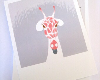 Cheeky Pink Giraffe