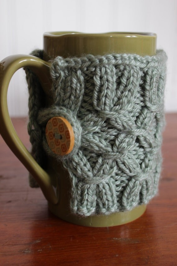 Knitted Mug Warmers Pattern : Items similar to Bottomless Knit Mug Warmer on Etsy