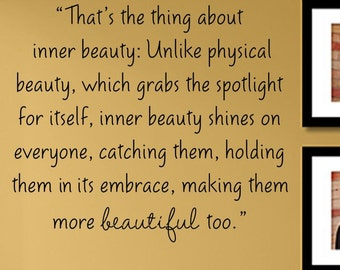 inner beauty physical beauty 61 quotes have been tagged as true-beauty:  inner-beauty, true-beauty 4 likes  spiritual and physical well-being in order to be truly happy and accept who we.