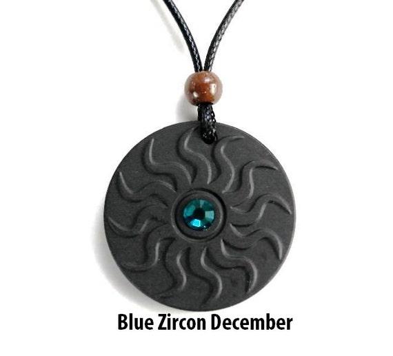 qp11 dalimara sun quantum pendant with blue zircon december
