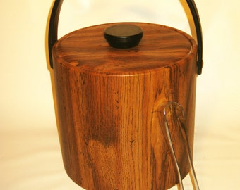 70's faux woodgrained icebucket