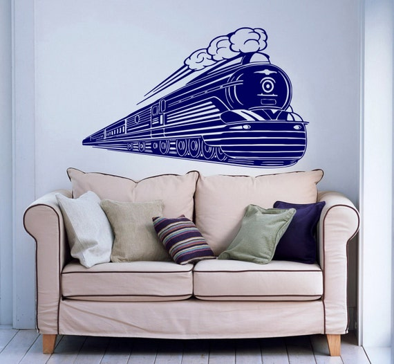 Train Wall Decal Locomotive Wall Decals Vinyl By Supervinyldecal