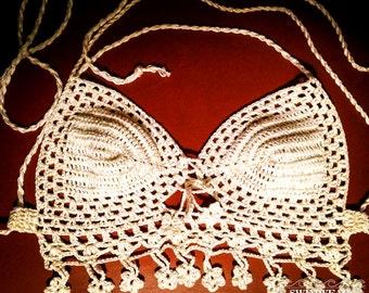 Crochet Top Festival - Crochet lace top - Beach style crochet bikini top