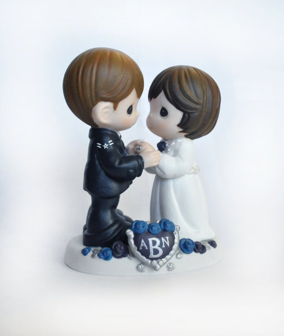 Hand Painted Air Force Cake Topper With Custom Hair By Ohpresh