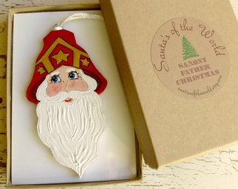 Christmas Ornament 1915 Saxony German Father Christmas, Santa Claus Holiday Tree Decoration