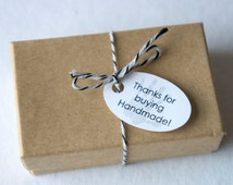 Thanks for Buying Handmade!-  Shop tags- About 1 inch- Many colors available- 70 tags