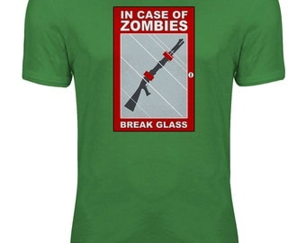 Zombies - In Case of Zombie Attack Shotgun Funny Zombie Womens T-shirt
