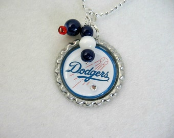 LA Dodgers Pendant Necklace/LA Dodgers Jewelry/Dodgers Accessories/Dodgers Clothing/Dodgers Home/Dodgers Woman/Dodgers Baseball/Dodgers
