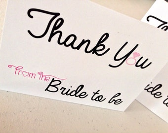 Thank you from the Bride to be