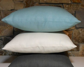 Linen Pillow Covers 65 Colors Both Sides //Custom Pillow Covers