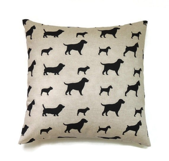 Dog Pillow 18x18 Pillow Cover Animal Pillow Throw Accent