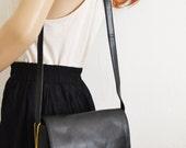 Free Ship Black Leather Messenger Purse Nine West Shoulder Bag