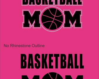Vinyl Rhinestone Basketball Mom Hoodie Sweatshirt Many Colors