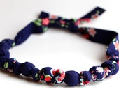 Teething Necklace - Memento in Midnight - Amy Butler Love Collection
