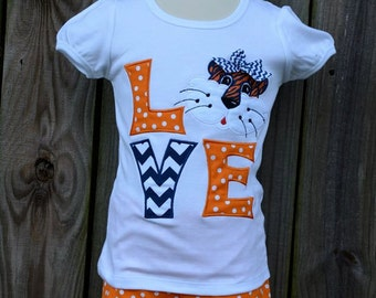 Personalized LOVE Tiger Football Applique Shirt or Onesie