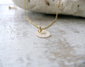 Initial Necklace 14k Gold Filled letter necklace custom hand stamped initial circle disc monogram necklace monogram initial letter jewelry