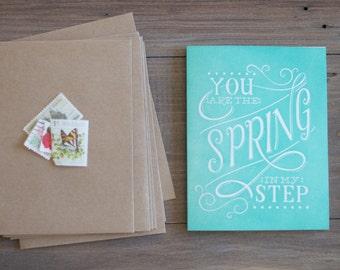 Spring in My Step - Letterpress Card