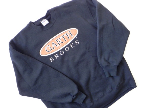 Garth Brooks Sweatshirt 1990s Vintage Black Adult Size Extra