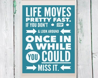Life Moves On Quotes Pleasing Life Moves Fast  Etsy