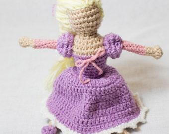 Rapunzel: princess doll   rapunzel doll   tangled   rapunzel toy   faceless doll   crochet for play   custom doll   gift for a girl