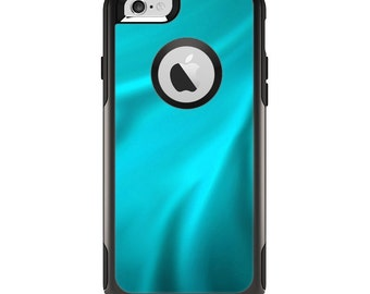 The Turquoise Highlighted Swirl Apple iPhone 6 Otterbox Commuter Case Skin Set