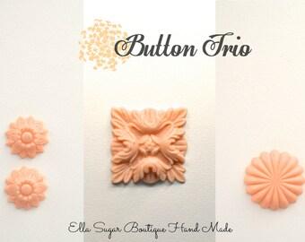 Silicone Mold Button Trio