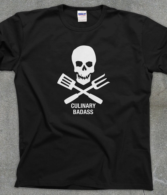 Culinary Badass funny cooking tshirt chef unisex men's women's tee - You Choose Color