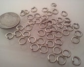Metal Jump Rings Findings Jewelry Supplies Chainmaille Platinum 6mm Diameter 1.20mm Thick, 500pcs F0317