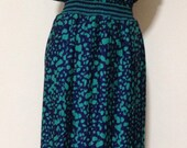 Vintage 1980's polka-dot midi-dress dress (re-worked) (Size 14 Aust / 10 USA / 14 UK)